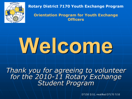Welcome [rotary-youth