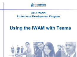 iWAM – Motivation Patterns