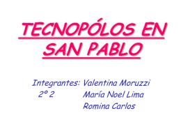 TECNOPÓLOS EN SAN PABLO