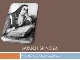 Baruch Spinoza - Filosofía para Bachillerato |
