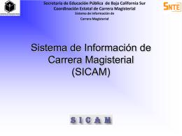 Manual de Usuario para la Operación del SICAM