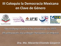 III Coloquio La Democracia Mexicana en Clave de