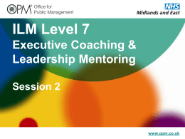 ILM Level 7 Executive Coaching & Leadership
