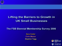 Lifting the Barriers to Growth in UK Small