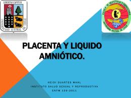 Placenta y liquido amniótico