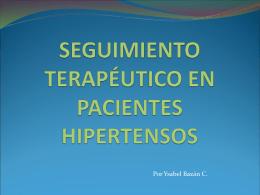 SEGUIMIENTO TERAPÉUTICO EN PACIENTES HIPERTENSOS