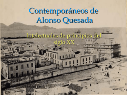 Contemporáneos de Alonso Quesada
