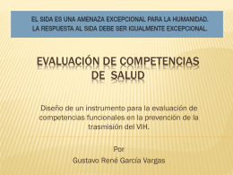 Evaluación de competencias de prevención en el