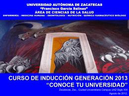 """UNIVERSIDAD AUTÓNOMA DE ZACATECAS """"Francisco"""