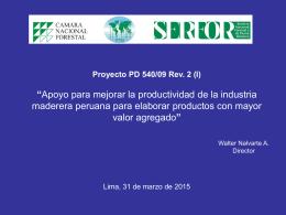 """Proyecto PD 23/00 Rev. 4 (F) """"Promoción y"""