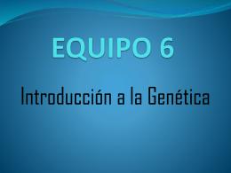 Introducción a la Genética