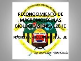 RECONOCIMIENTO DE MACROMOLÉCULAS BIOLÓGICAS ENLA