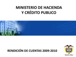 RENDICIÓN DE CUENTAS Sector Hacienda