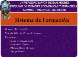 UNIVERSIDAD MAYOR DE SAN ANDRES FACULTAD DE