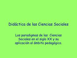 Didáctica del conocimiento del medio social y