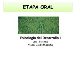 ETAPA ORAL - Psicología del Desarrollo I