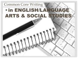 Common Core Writing - Okaloosa County School