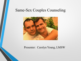 SAME-SEX COUPLES COUNSELING