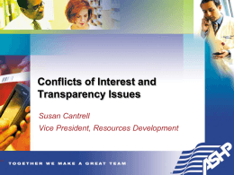 Conflicts of Interest in Research, Education, and
