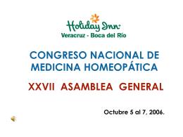 XXVII CONGRESO NACIONAL DE MEDICINA HOMEOPÁTICA
