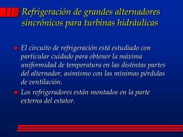 Características térmicas en régimen
