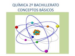 QUÍMICA 2º BACHILLERATO CONCEPTOS BÁSICOS