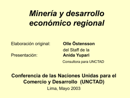 Mining and local economic development