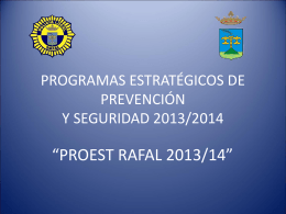 PLAN LOCAL DE PREVENCIÓN Y SEGURIDAD 2013/2014