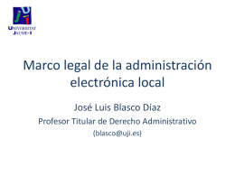 Marco legal de la administración electrónica local