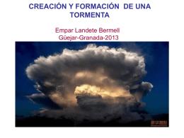 Configuraciones de nubes que indican precipitación