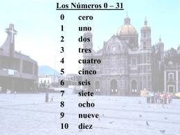 Los Números 0 – 31