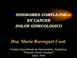 Sindromes Dolorosos en Cancer