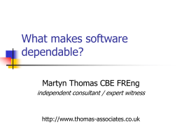 What makes software dependable?