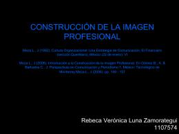 CONSTRUCCIÓN DE LA IMAGEN PROFESIONAL