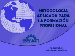 METODOLOGÍA DE LA FORMACIÓN PROFESIONAL