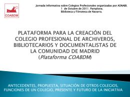 PLATAFORMA PARA LA CREACIÓN DEL COLEGIO
