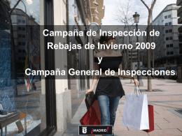 Campaña de Inspección y Control de Rebajas de