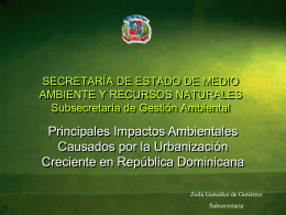 SECRETARÍA DE ESTADO DE MEDIO AMBIENTE Y RECURSOS