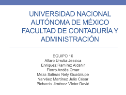 Universidad Nacional Autónoma de México Facultad