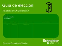 Guía de elección - Novedades en ION Enterprise 6.0
