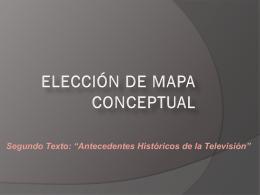 ELECCIÓN DE MAPA CONCEPTUAL