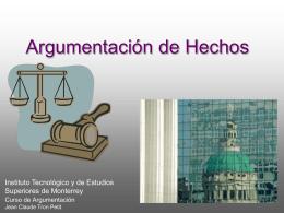Argumentación Judicial 3 Hechos