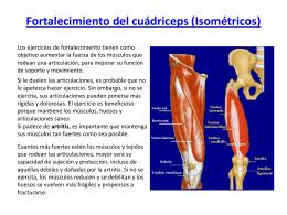 Fortalecimiento del cuádriceps (Isométricos)