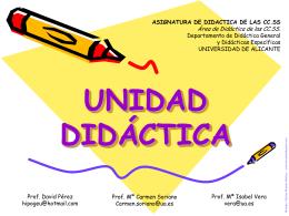 UNIDAD DIDÁCTICA