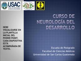 CURSO DE NEUROLOGÍA DEL DESARROLLO