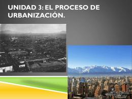 Unidad 3: El Proceso de urbanización.