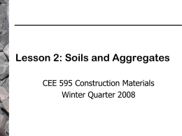 Lesson 2: Soils and Aggregates