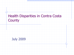 Community Health Indicators in Contra Costa County