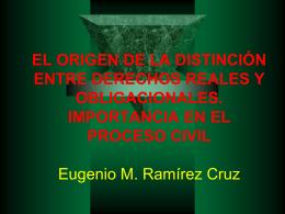 DERECHOS REALES INTRODUCCIÒN Autor Eugenio M.