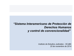 Derechos Humanos y Garantías Judiciales en el